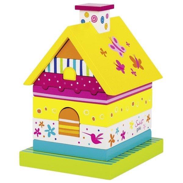 Купить Игрушка goki Пирамидка домик Susibelle (58549G)