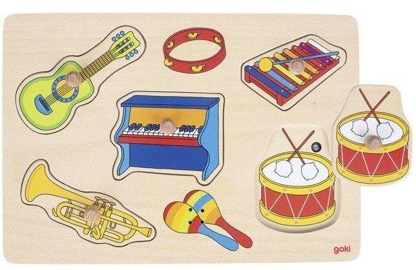 Купить Пазл со звуком goki Музыкальные инструменты (57520G)