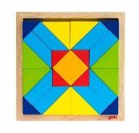 Деревянный пазл goki Мир форм-прямоугольник (5757- 4)