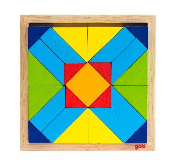 Купить Деревянный пазл goki Мир форм-прямоугольник (5757- 4)