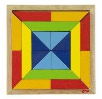 Деревянный пазл goki Мир форм - квадрат (57572-3)