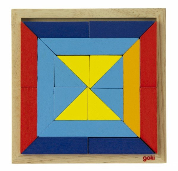 Купить Деревянный пазл goki Мир форм-треугольники (57572-1)