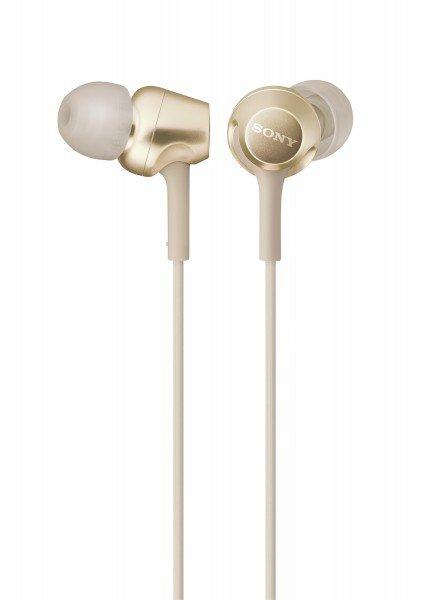 Купить Наушники Sony MDR-EX255AP mic Gold