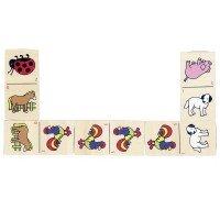 Настольная игра goki Домино с животными (WG090G)