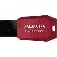 Накопичувач USB 2.0 ADATA DASHDRIVE UV100 8GB RED (AUV100-8G-RRD)