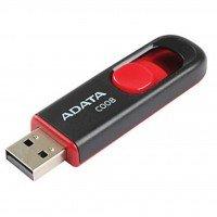 Накопитель USB 2.0 ADATA Classic C008 64 GB Black/Red (AC008-64G-RKD)