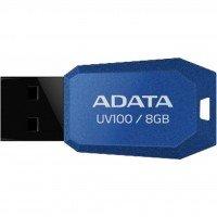 Накопичувач USB 2.0 ADATA UV100 8 GB Blue (AUV100-8G-RBL)