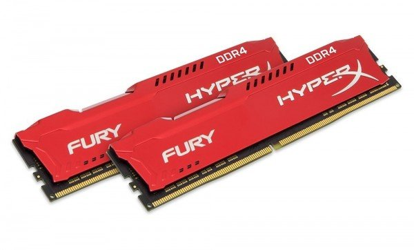 Купить Память для ПК Kingston 16GB DDR4 2400 MHz HyperX Fury Red (2x8GB) (HX424C15FR2K2/16)