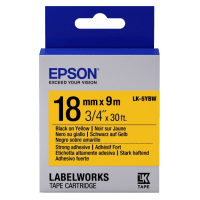 Лента Epson LK-5YBW принтеров LW-400/400VP/700 Strng adh Blk/Yell 18mm/9m