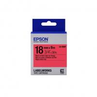 Картридж с лентой Epson LK5RBP принтеров LW-400/400VP/700 Pastel Blk/Red 18mm/9m (C53S655002)