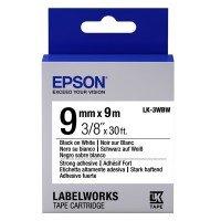 Картридж с лентой Epson LK3WBW для принтеров LW-300/400/400VP/700 Strng adh Blk/Wht 9mm/9m (C53S653007)