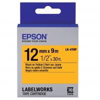 Лента Epson LK4YBP принтеров LW-300/400/400VP/700 Pastel Black/Yellow 12mm/9m