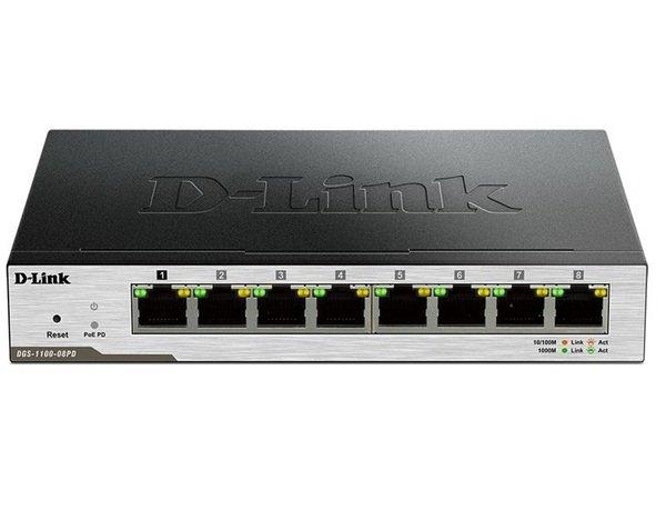 Купить Коммутаторы неуправляемые, КоммутаторD-LinkDGS-1100-08PD