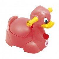 Детский горшок Ok Baby QUACK с ручками для безопасности ребенка розовый (37079900/48)