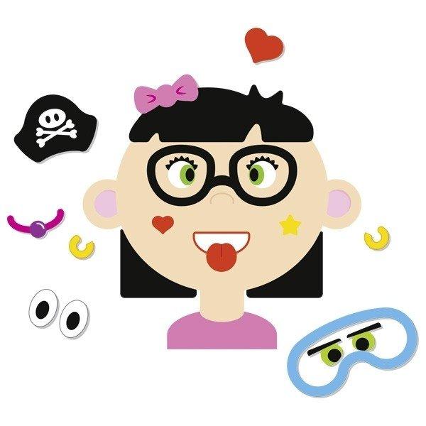 Развивающая игра goki Забавные гримасы девочка (58492G) фото