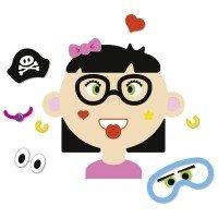 Развивающая игра goki Забавные гримасы девочка (58492G)