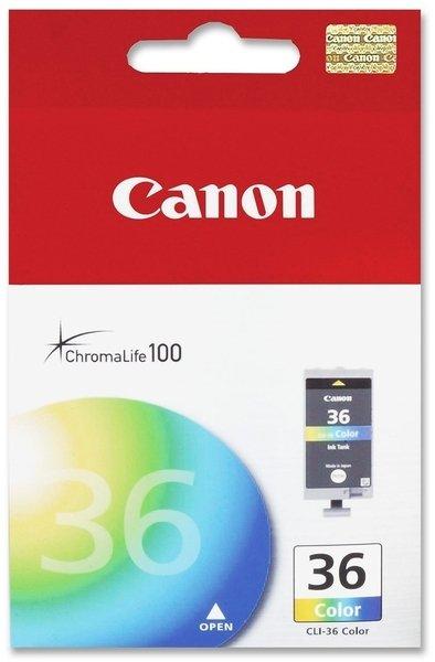 Купить Картридж струйный CANON CLI-36 Color PIXMA iP100, mini260 (1511B001)