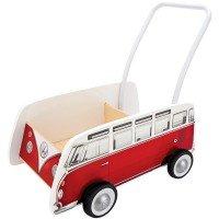 Толкач HAPE Классический автобус красный (E0379)