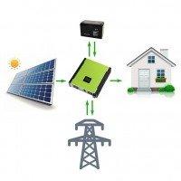 """Гибридная солнечная электростанция 3975 Вт PV-Massive 1 фаза 5.5 кВт - """"ЗТ+"""", под зеленый тариф"""