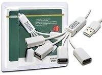 Концентратор USB 2.0, Digitus 4 порта, пассивный, White/Белый (DA-70216)