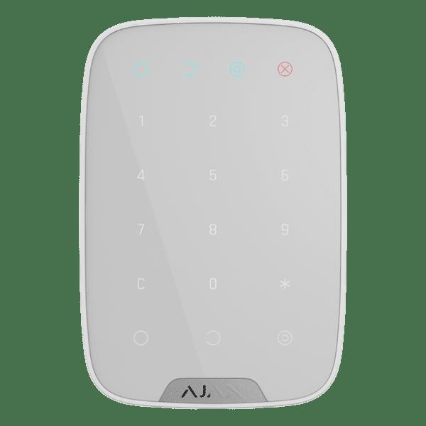Купить Беспроводная сенсорная клавиатура Ajax KeyPad EU белая