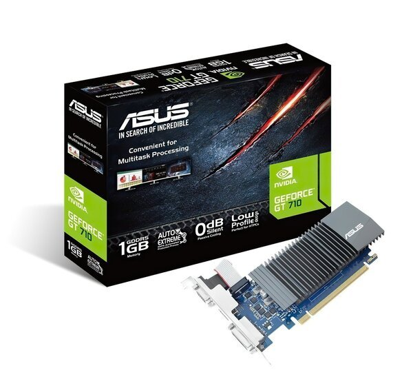 Видеокарта ASUS GeForce GT710 1GB DDR5 (GT710-SL-1GD5-BRK) фото 1