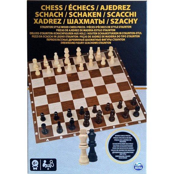 Настольная игра Spin Master Шахматы деревянные фигуры (SM98367/6033313) фото 1