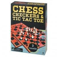 Набор из трех настольных игр Spin Master Шахматы, шашки и крестики-нолики (SM98377/6033146)