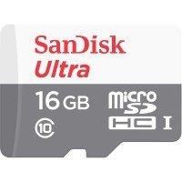 Карта памяти Sandisk microSDHC 16GB Class 10 UHS-I Ultra R80MB/s + SD-адаптер
