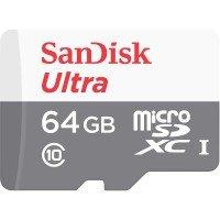Карта памяти Sandisk microSDXC 64GB Class 10 UHS-I Ultra R80/W10MB/s