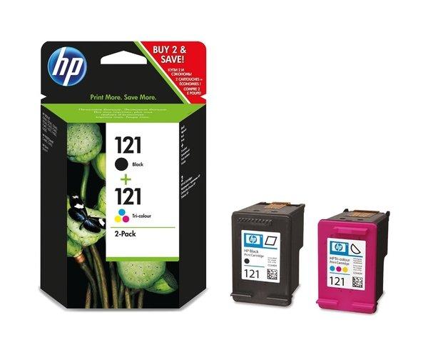 Купить Картридж струйный HP No.121 Black/Tri-color Combo Pack (CN637HE)