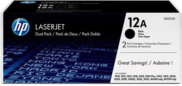 Картридж лазерный HP 1010/1012/1015/1020/1022 DUAL PACK (Q2612AF)