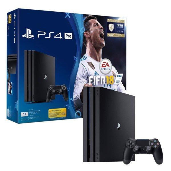 ≡ Игровая приставка SONY PlayStation 4 Pro 1Tb Black (FIFA 18  PS+ ... 26fabad62d8ee