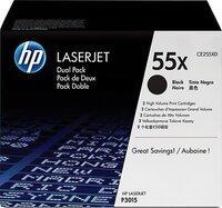 Картридж лазерный HP LJ P3015 series black max DUAL PACK (CE255XD)