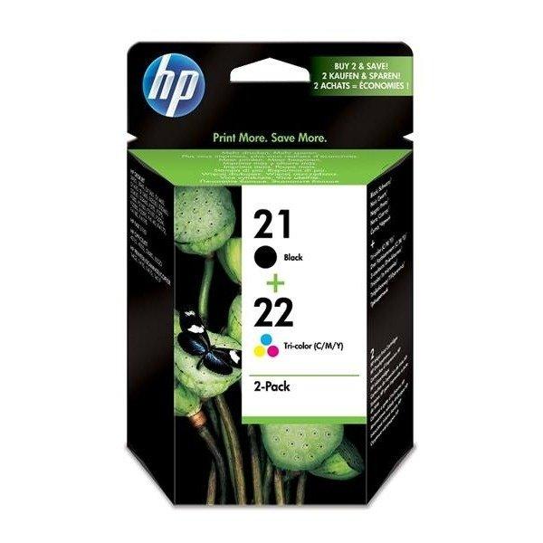 Купить Картридж струйный HP No.21/22 Black/Tri-color Combo Pack (SD367AE)