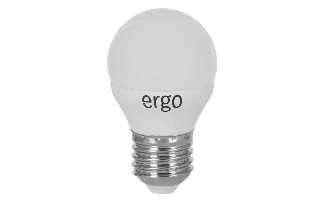 Светодиодная лампа ERGO Standard G45 E27 5W 220V 3000K (LSTG45E275AWFN) фото 1