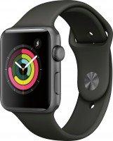 Смарт-часы Apple Watch Series 3 GPS 42mm Space Grey Aluminium Case with Black Sport Band (MQL12FS/A)