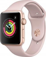 Смарт-часы Apple Watch Series 3 GPS 38mm Gold Aluminium Case with Pink Sand Sport Band (MQKW2FS/A)