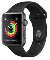 Смарт-часы Apple Watch Series 3 GPS 38mm Space Grey Aluminium Case with Black Sport Band (MQKV2FS/A)