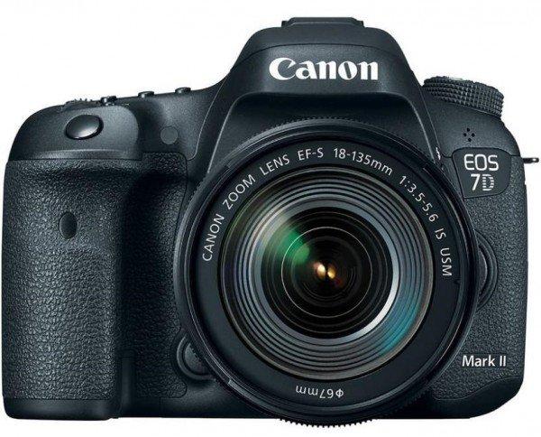 Купить Фотоаппарат CANON EOS 7D Mark II + объектив 18-135 IS USM + Wi-Fi адаптер W-E1 (9128B163)