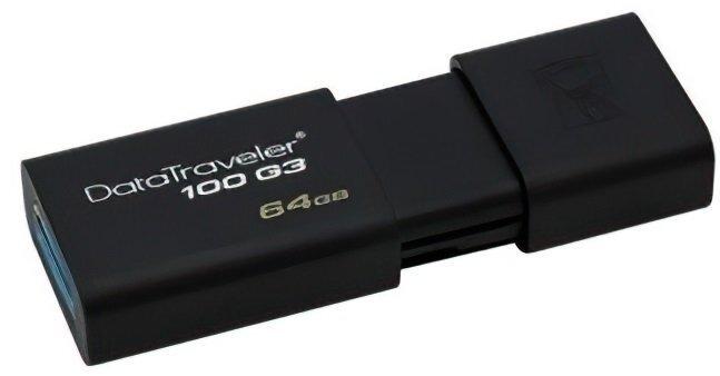 Накопичувач USB 3.0 KINGSTON DT100 G3 64GB (DT100G3/64GB) фото1