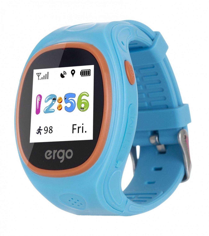 Детские часы ERGO с GPS трекером TRACKER JUNIOR COLOR J010 Blue фото 1 98bd87f6a737d