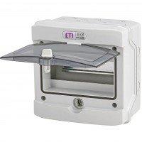 Щит пластиковий ETI ECH 8PT (зовнішній 1х8мод, двері прозо, IP65)