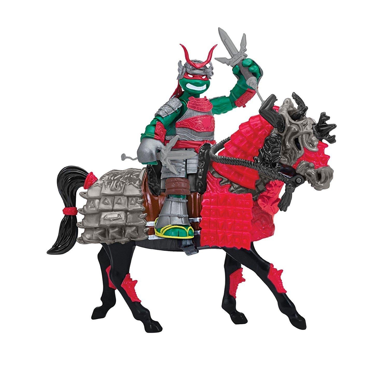 Игровой набор TMNT Черепашки-ниндзя Самураи Эксклюзивная фигурка Рафаэля на  лошади (94270) фото1 55abfdf3ef2b3