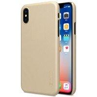Чехол NILLKIN для iPhone X Super Frosted Shield Gold