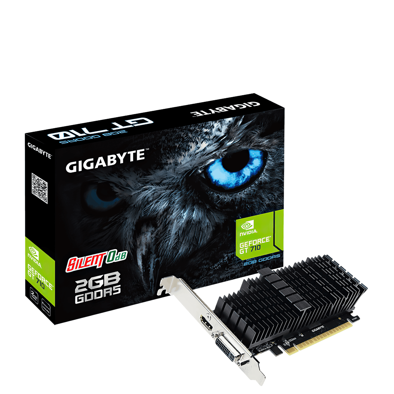 Відеокарта Gigabyte GeForce GT710 2GB DDR5 Silent (GV-N710D5SL-2GL) фото1