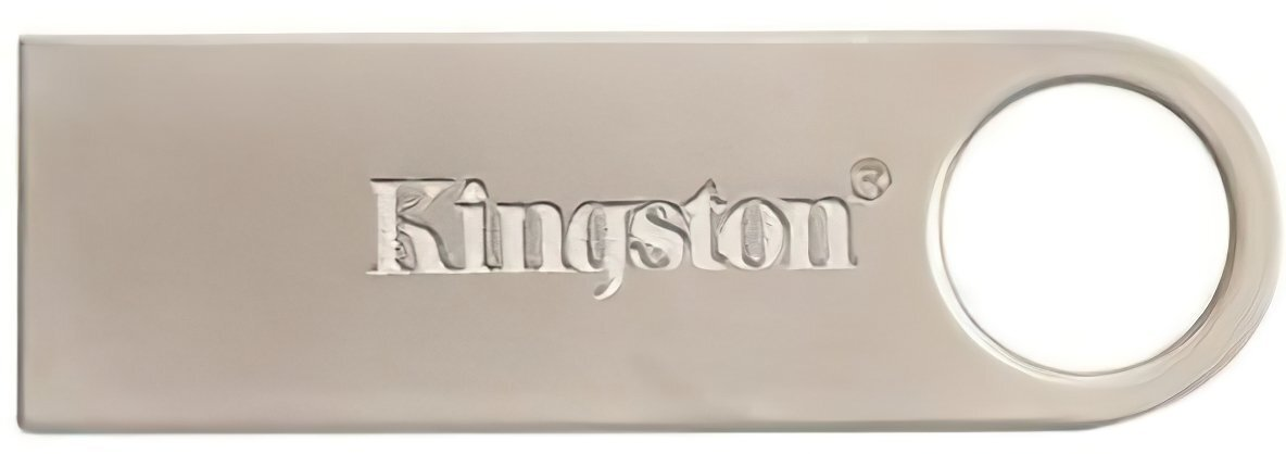 Накопичувач USB 2.0 KINGSTON DTSE9 32GB Metal Silver (DTSE9H/32GB) фото1