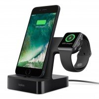 Док-станция Belkin для Apple Watch и iPhone, Black (F8J200VFBLK)