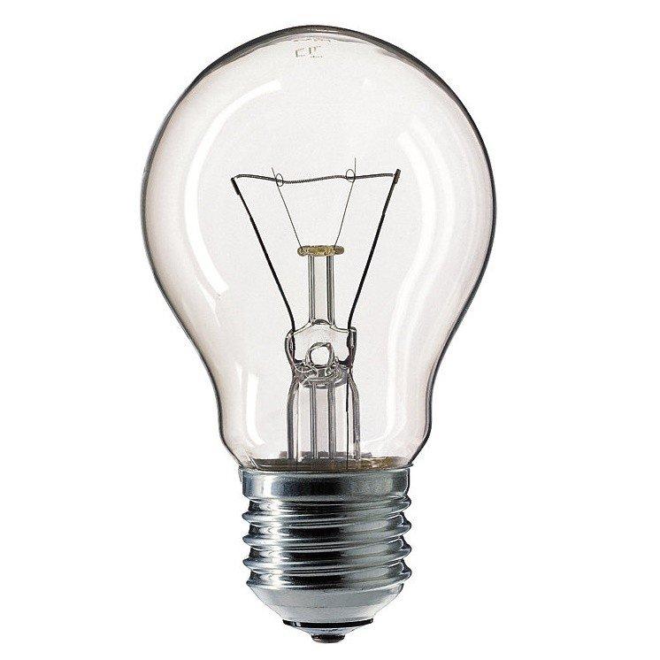 Лампа накаливания Philips E27 100W 230V A55 CL 1CT/12X10 Stan (926000004012) фото 1
