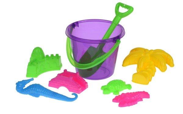 Купить Набор для игры с песком Same Toy 8 шт фиолетовое ведро HY-1204WUt-2